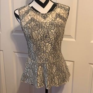 3/$25 🥳 The Limited Lace Peplum Top